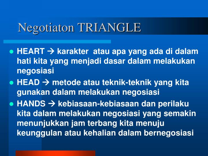 Negotiaton TRIANGLE