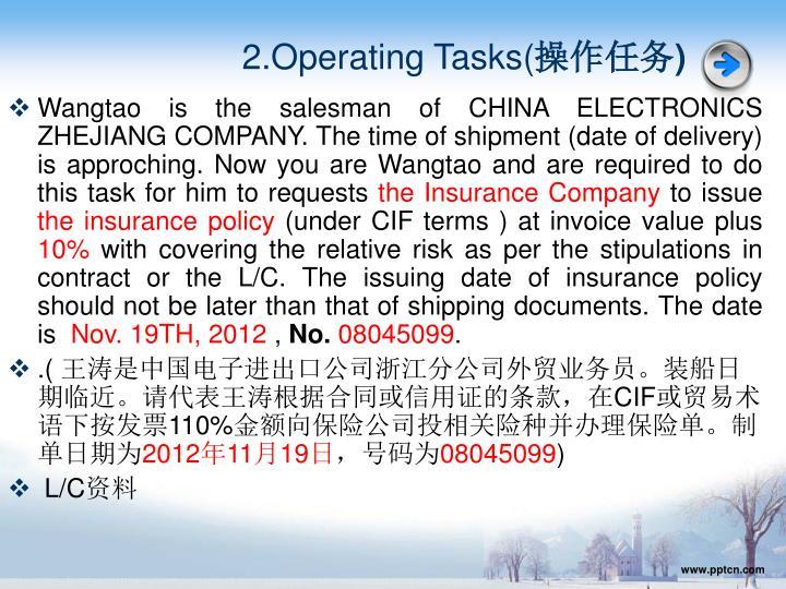 2.Operating Tasks(