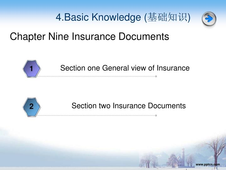 Section one General view of Insurance