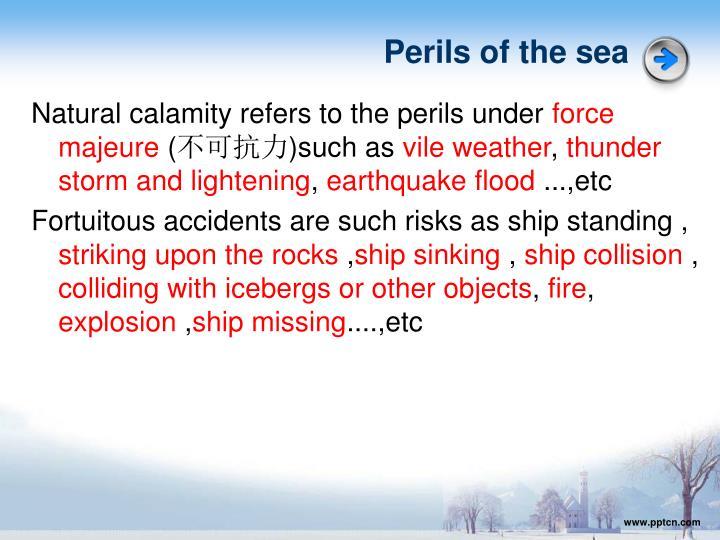 Perils of the sea