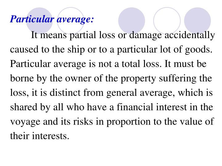 Particular average: