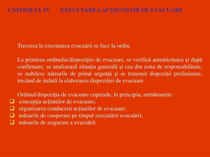 CAPITOLUL IV