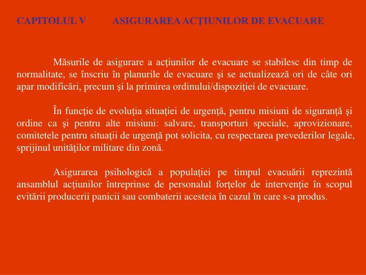CAPITOLUL V