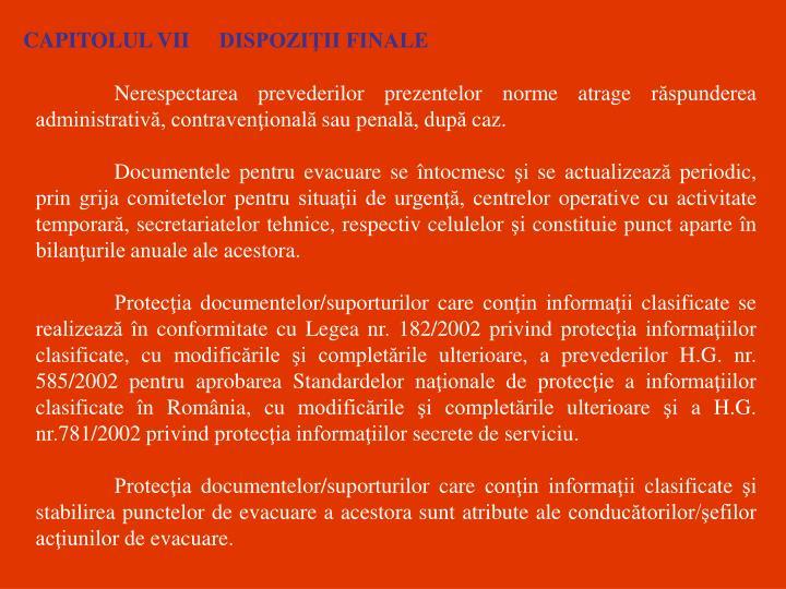 CAPITOLUL VII