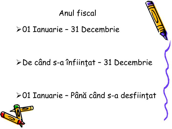 Anul fiscal
