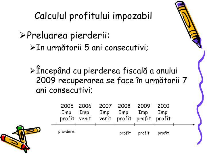 Calculul profitului impozabil