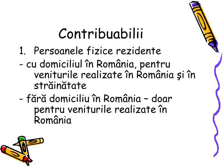 Contribuabilii