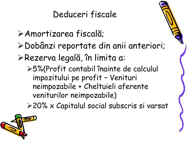 Deduceri fiscale
