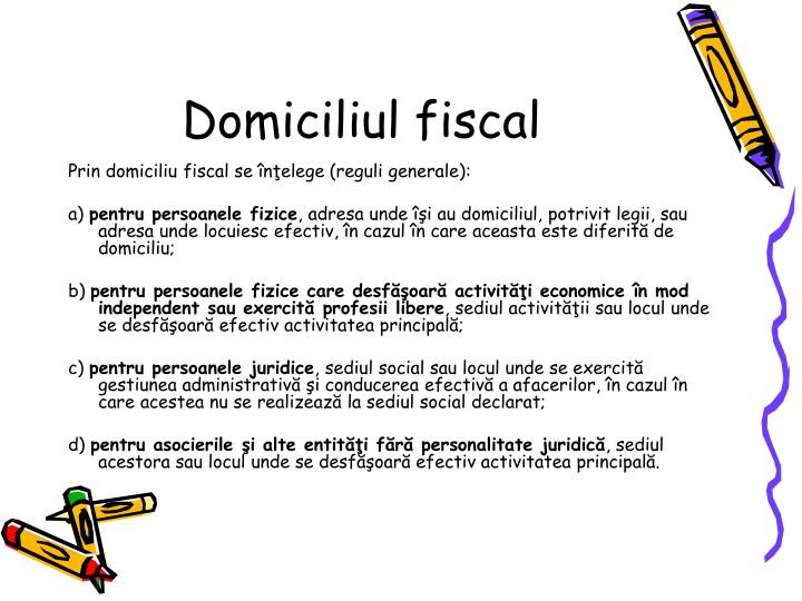 Domiciliul fiscal