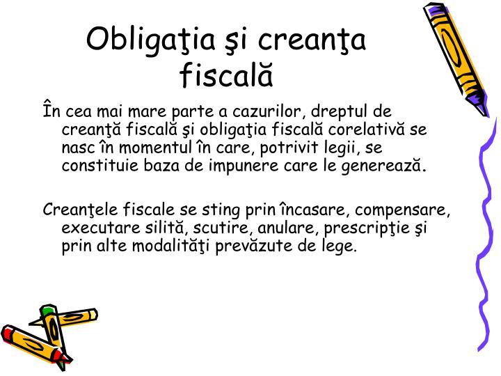 Obligaia i creana fiscal