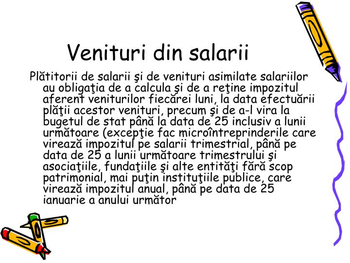 Venituri din salarii