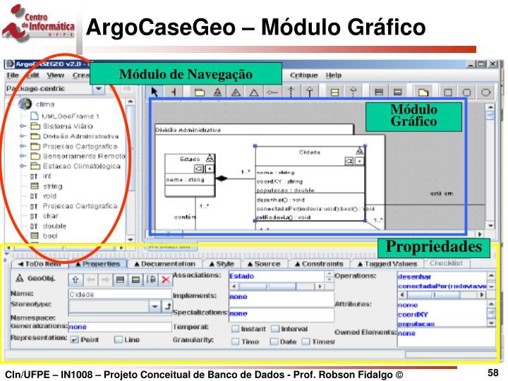 ArgoCaseGeo – Módulo Gráfico