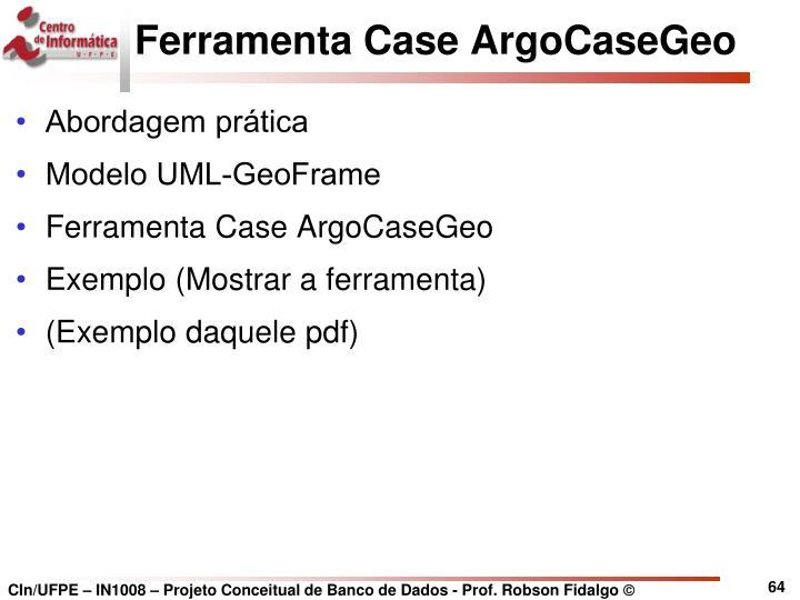 Ferramenta Case ArgoCaseGeo