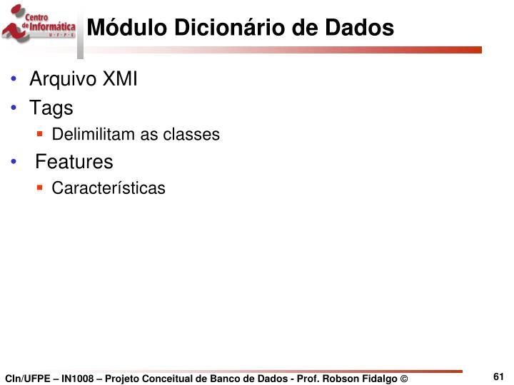 Módulo Dicionário de Dados