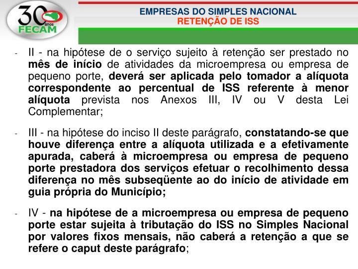EMPRESAS DO SIMPLES NACIONAL