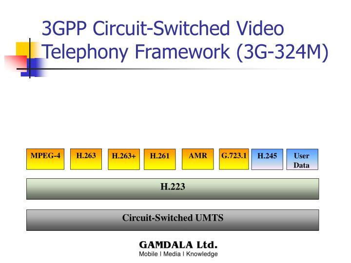 3GPP Circuit-Switched Video Telephony Framework (3G-324M)