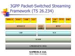 3gpp packet switched streaming framework ts 26 234