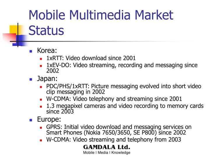 Mobile Multimedia Market Status