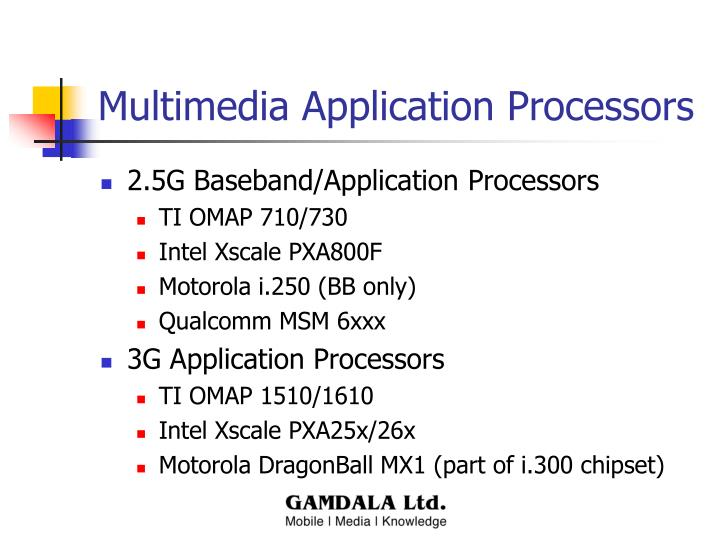 Multimedia Application Processors