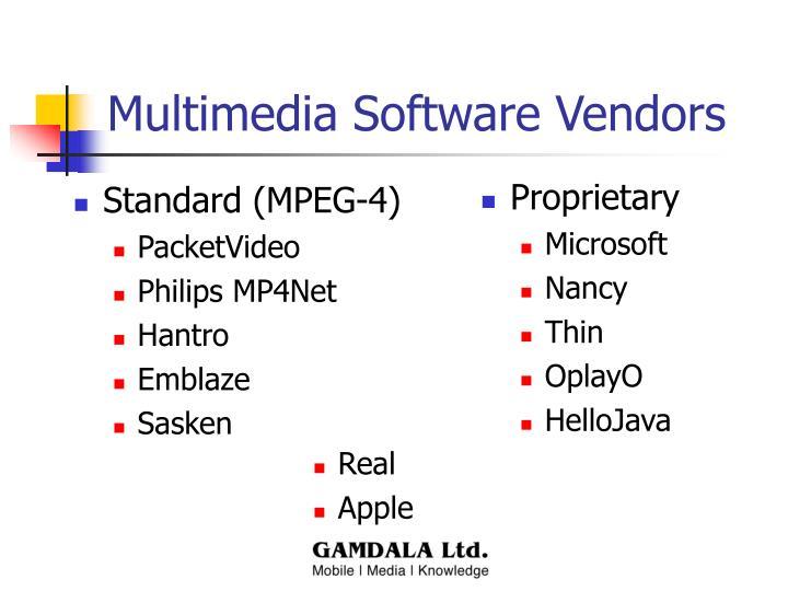 Multimedia Software Vendors