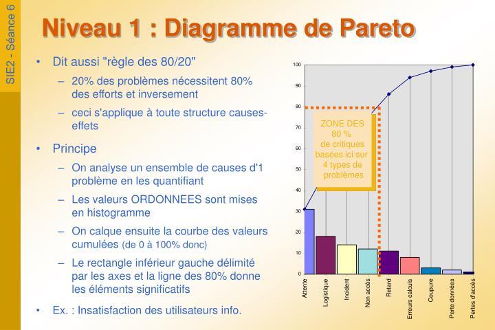 Niveau 1 : Diagramme de Pareto