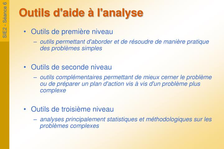 Outils d aide l analyse