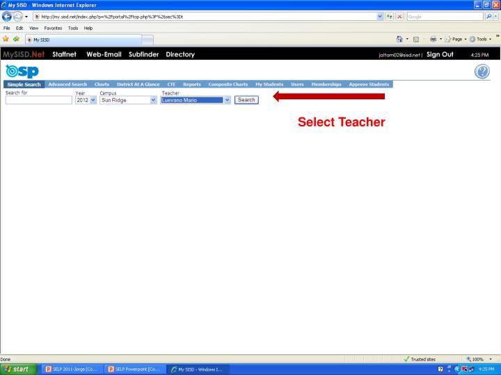 Select Teacher