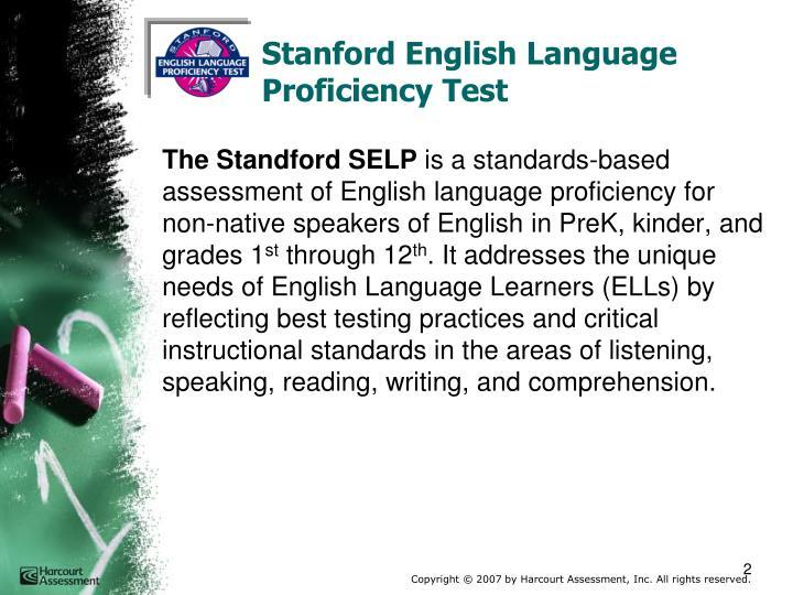 Stanford English Language Proficiency Test