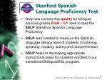 stanford spanish language proficiency test