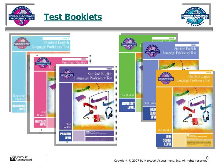 Test Booklets