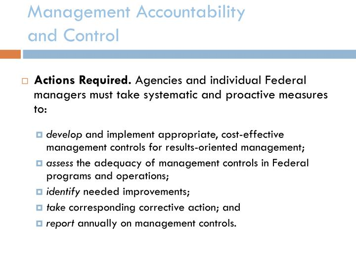 Management Accountability