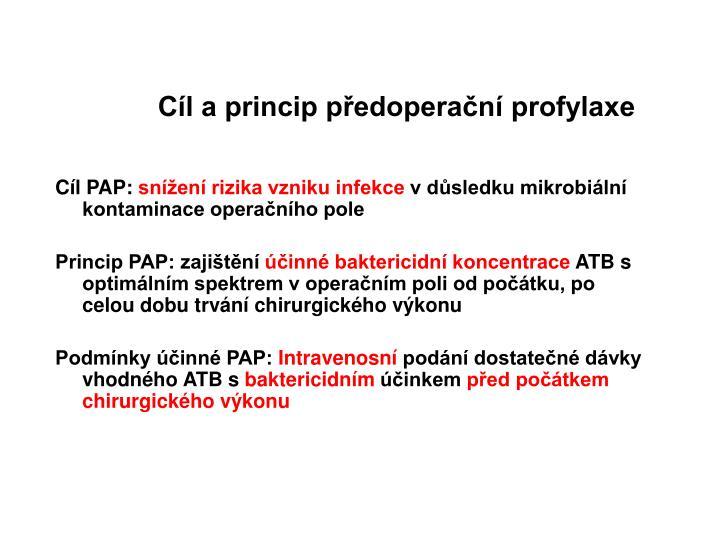 Cíl a princip předoperační profylaxe