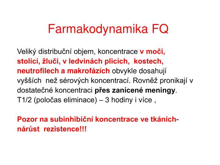 Farmakodynamika FQ
