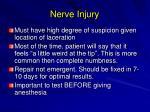 nerve injury