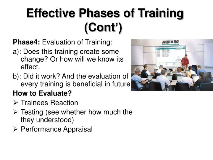 Effective Phases of Training (Cont')
