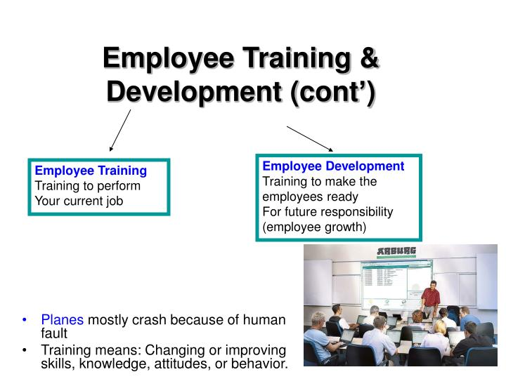 Employee Training & Development (cont')