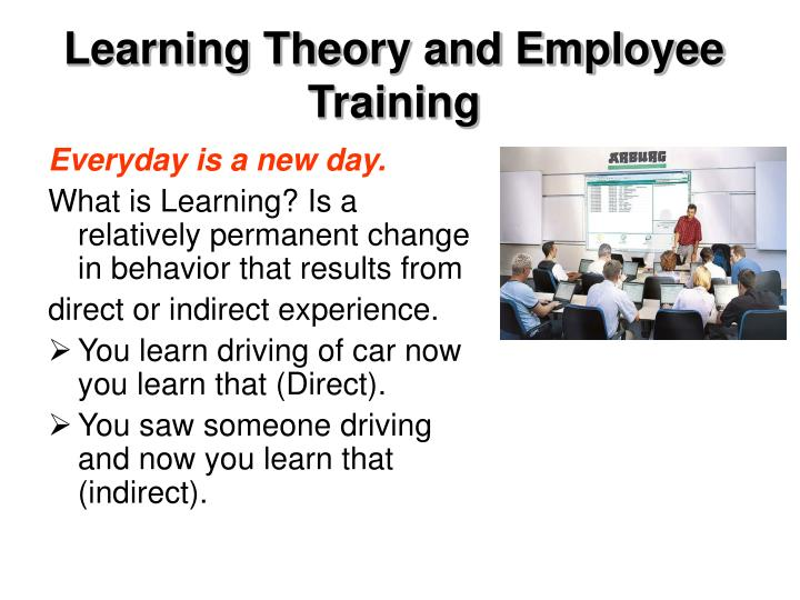 Learning Theory and Employee Training