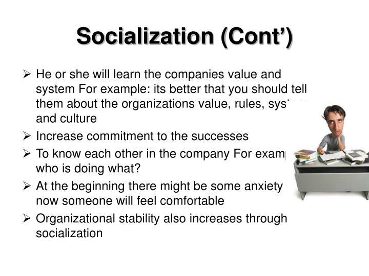 Socialization (Cont')