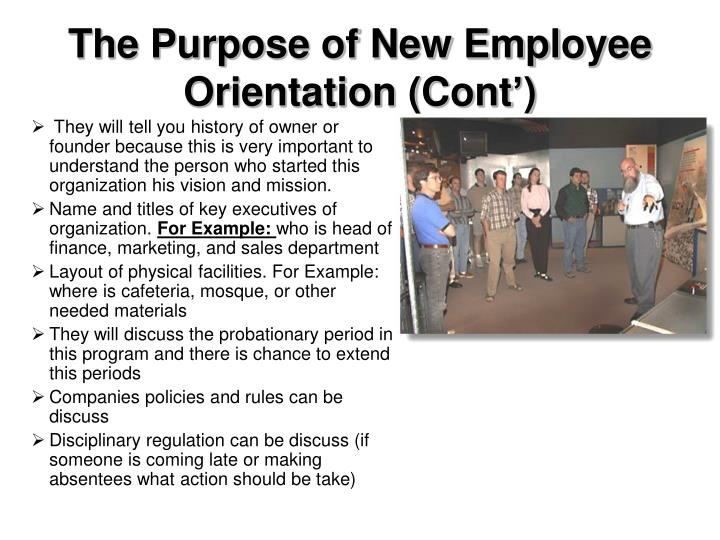 The Purpose of New Employee