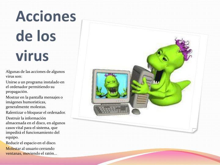 Acciones de los virus