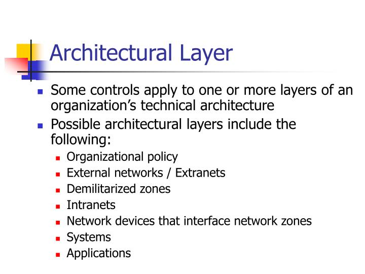 Architectural Layer