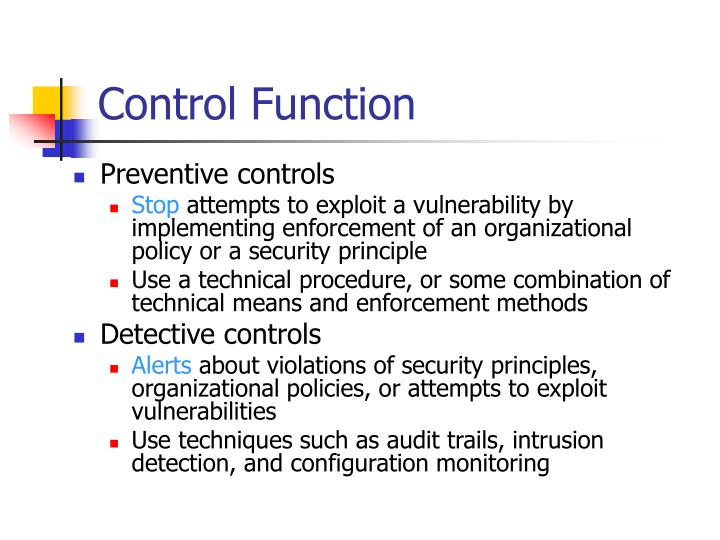Control Function