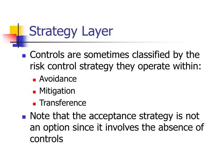 Strategy Layer