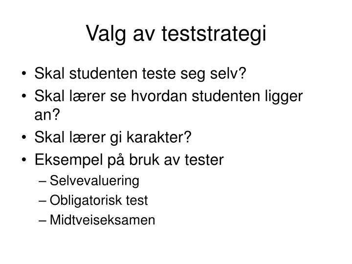 Valg av teststrategi