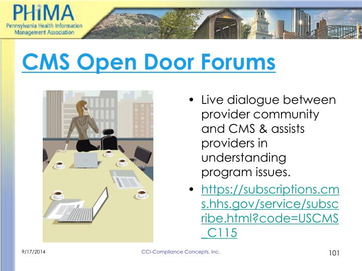 CMS Open Door Forums