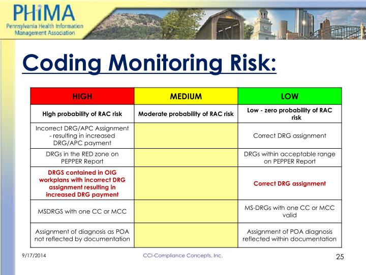 Coding Monitoring Risk: