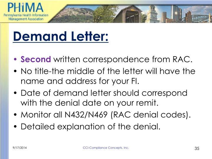 Demand Letter:
