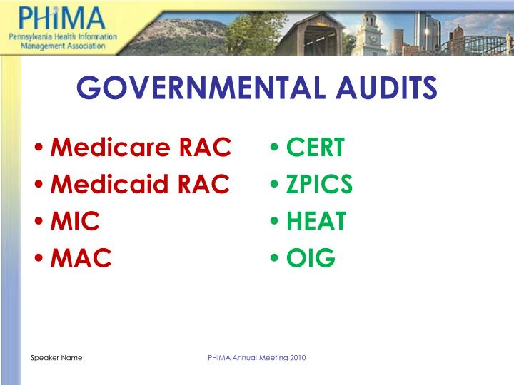 GOVERNMENTAL AUDITS