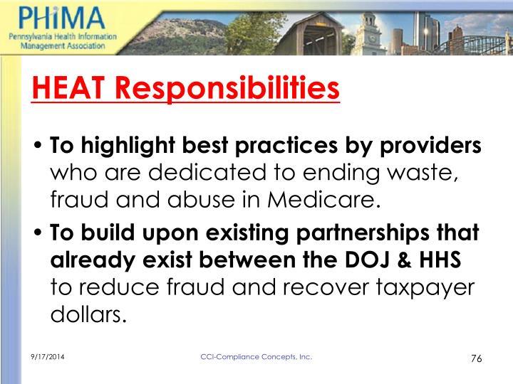HEAT Responsibilities