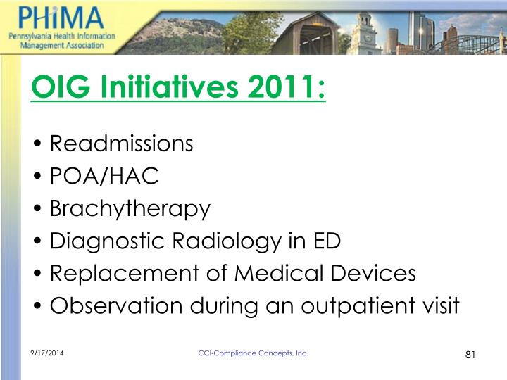 OIG Initiatives 2011: